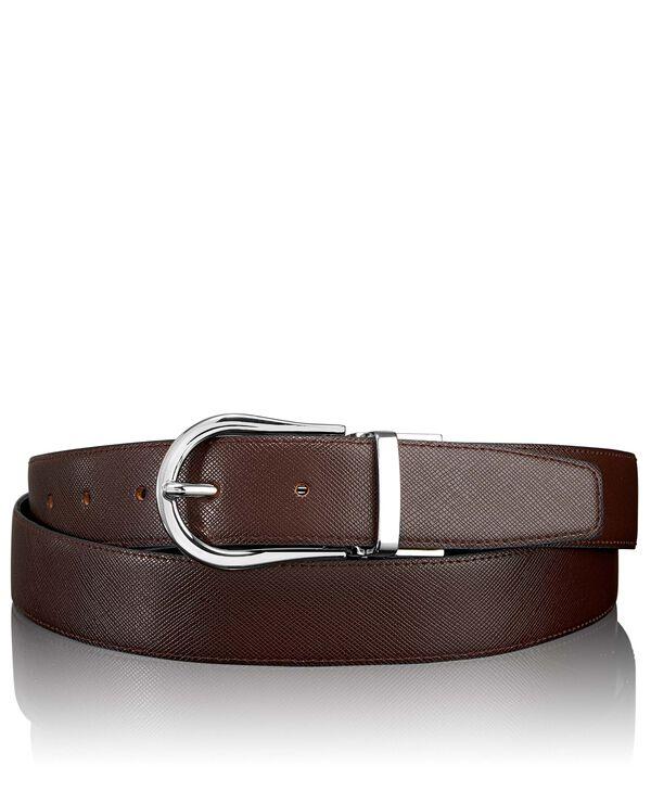 "Belts Saffiano Horseshoe Reversible Belt 44"""