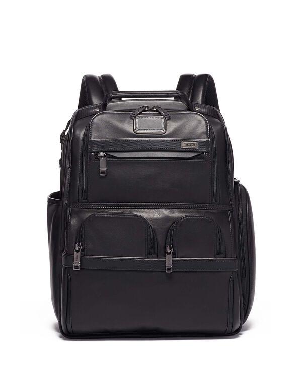 Alpha 3 Skórzany kompaktowy plecak na laptop