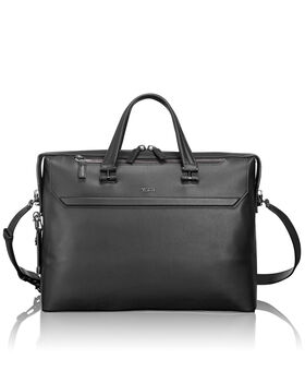 Gates Slim Leather Brief Ashton